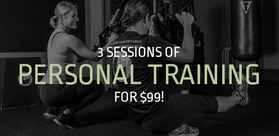 3 Sessions of Personal Training for $99